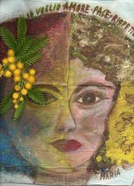 donna, mimosa, bionda